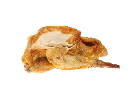 guinea fowl: Part carved roast Guinea fowl isolated against white