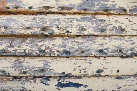 wood panel: Old weathered wood panel with peeling paint