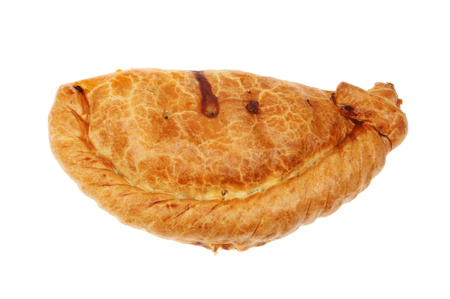 Cornish pasty isolated against white