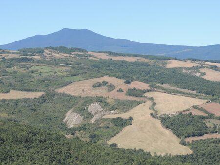 Landscape of Val dOrcia from Radicofani, Tuscany (Italy)