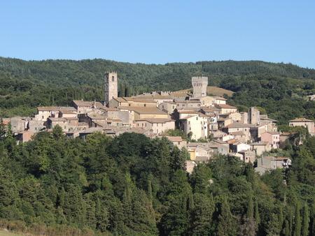 View of San Casciano dei Bagni, Tuscany (Italy)