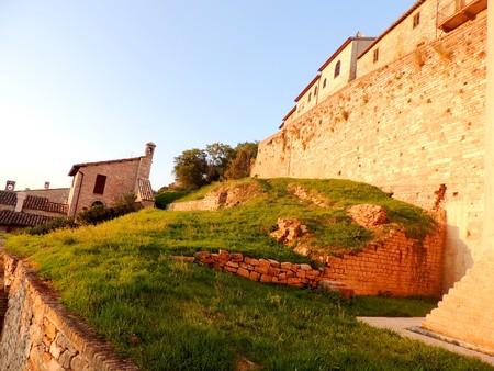 View of Spello, Umbria (Italy) Stock Photo