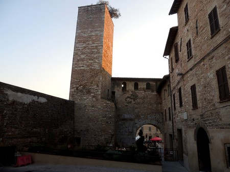View of Consular Gate, Spello, Umbria (Italy) Editorial