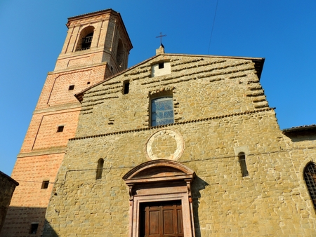 Church of Santa Maria Maggiore, Bettona. Banco de Imagens