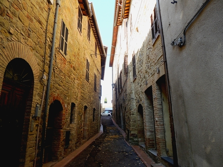 Alley in Bettona, Umbria (Italy).