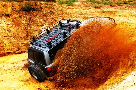 Off roading thrill Stock Photo - 8806675