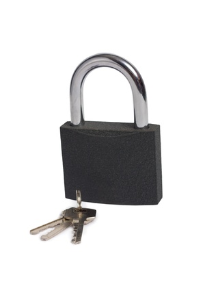 Lock with key isolated photo