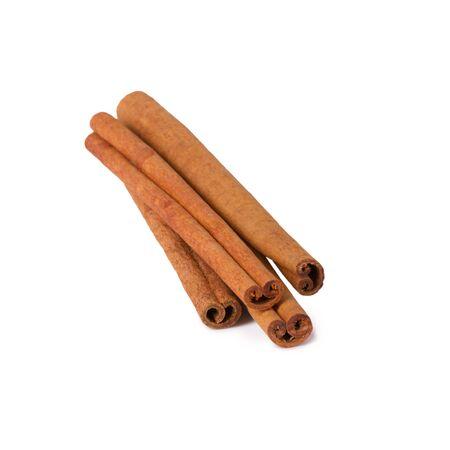 Several cinnamon sticks isolated on white background Standard-Bild
