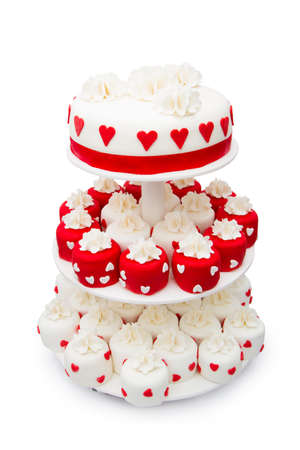 Wedding cake, isolated on a white background photo