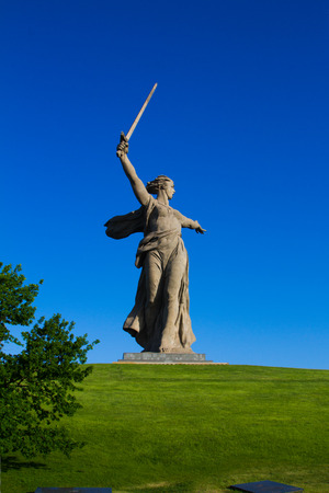 Central figure of the memorial complex at Mamaev burial in Volgograd