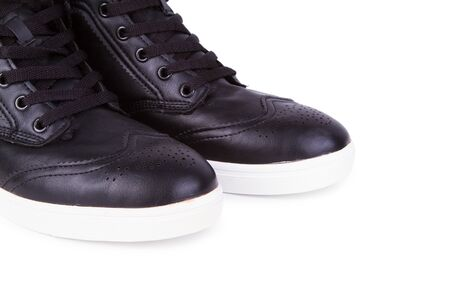 the pair: Pair of sneakers on the white background
