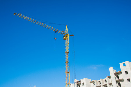 Multi-storey building. Construction of multi-storey residential building Stok Fotoğraf