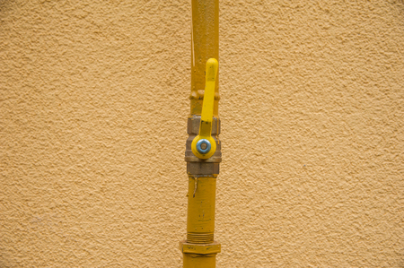 Crane mounted on the gas pipe leading to the house