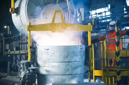Contemporary large aluminum foundry with casting cells