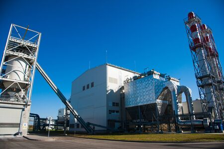 Grain processing facilit. Industrial Factory silos for food production
