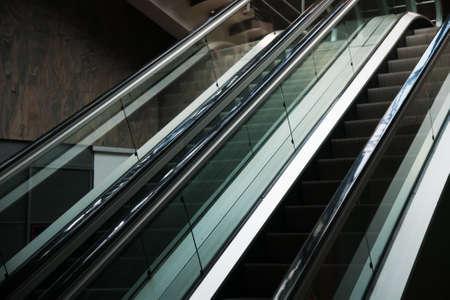 Escalator inside modern business center or shopping center Reklamní fotografie