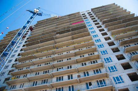 Multi-storey building. Construction of multi-storey residential building 写真素材