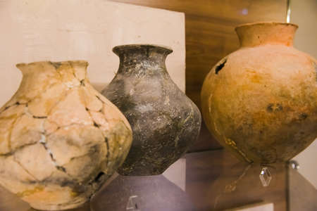 The exhibits are on display in the Archaeological Museum. Antiquities, everyday objects of people, pottery, jewelry, weapons found during excavations.