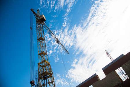Multi-storey building. Construction of multi-storey residential building Standard-Bild