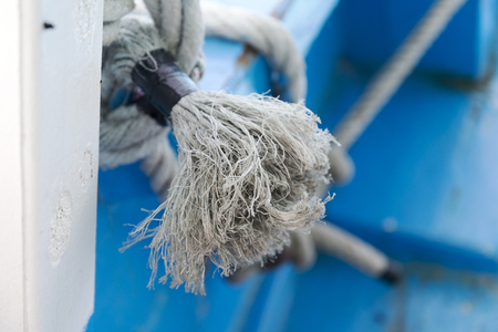 Rope from Kant are on the ship. Stock Photo