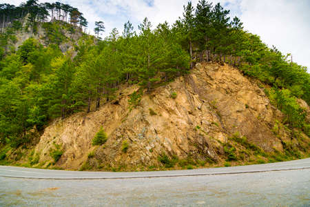 The road along the mountain in Montenegro.