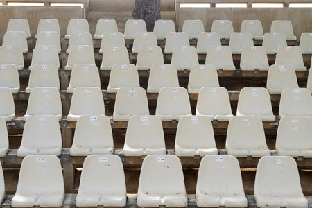 Plastic chairs for theater in the open air space.