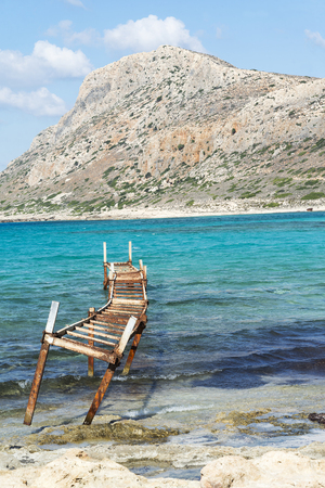 Scenery view of Bay of Balos, Greece. Banco de Imagens