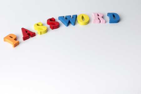The word password on a white background