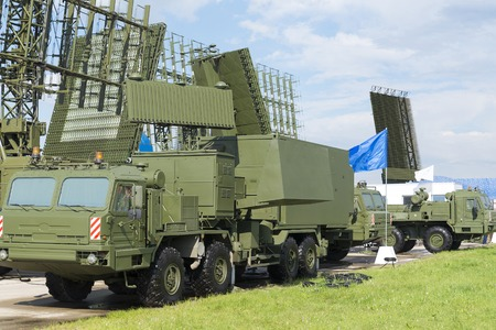 Military radar machine at the international exhibition in Zhukovsky.