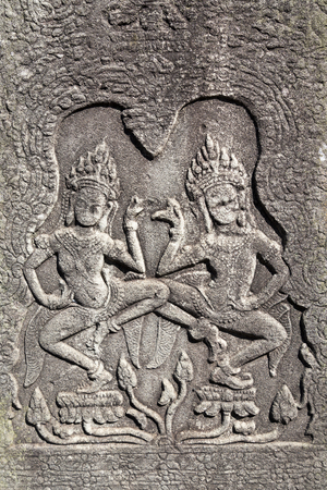 The rock carvings of Angkor Wat