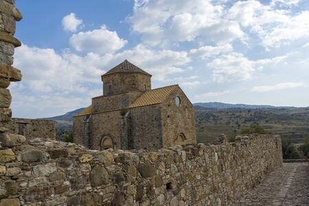 Church in the mountains of Cyprus. Restored Church on the island of Cyprus. The concept of travel and tourism. 免版税图像