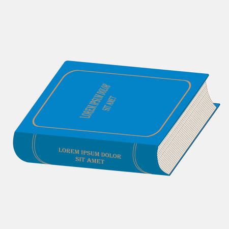 Book isometric image. Fulcolor designe elevrnt. Vector illustration