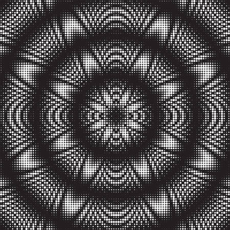 Dotted Halftone Vector Pattern or Texture. Stipple Dot Backgrounds with Black Circles