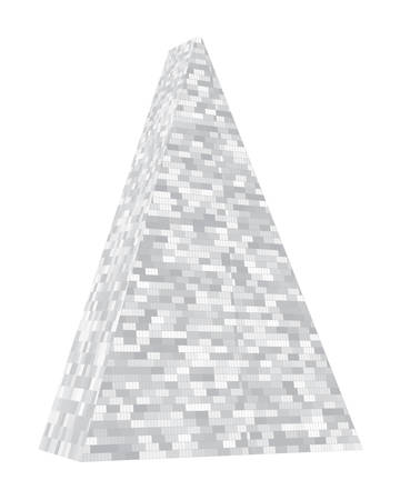 Triangular tower. Layout, illustration. Vector