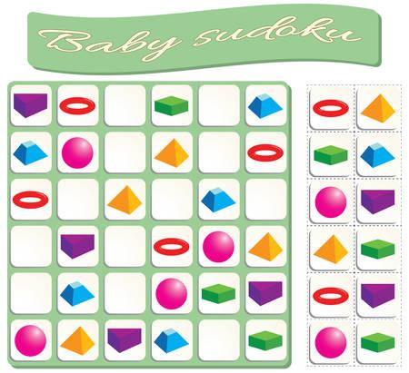 colorful billiard balls. Game for preschool kids, training logic