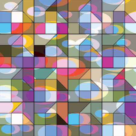Vector Abstract background from geometric shapes. Stained glass window