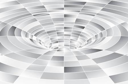Túnel o agujero de gusano. Túnel de estructura metálica digital. Rejilla de túnel 3D. Imagen de vector abstracto de fondo Ilustración de vector