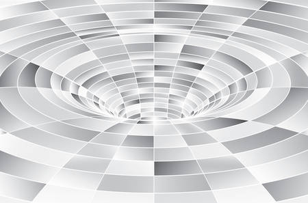 Tunnel or wormhole. Digital wireframe tunnel. 3D tunnel grid. Background abstract vector image Vector Illustration