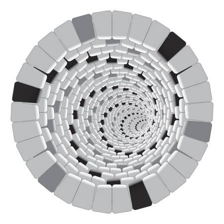 Gray Vector Spiral Pattern or Texture. Vector illustration