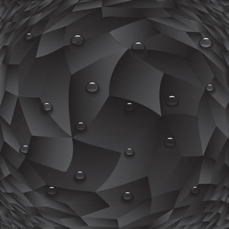 Dark abstract cubes paint background with drops. Modern screen vector design for mobile app