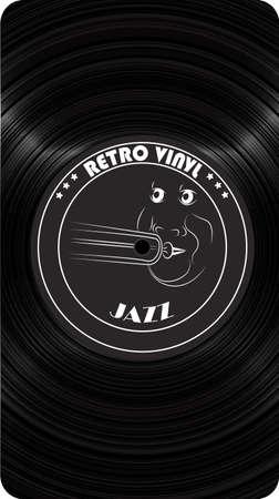Retro vinyl. Dark abstract circles paint background. Modern screen vector design for mobile app