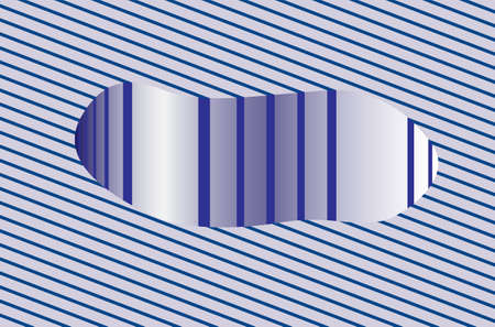 Hallucination. Optical illusion. Abstract futuristic background of stripes. 3D tunnel