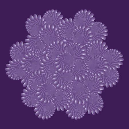 Mandala, fractal pink pattern. Dotted colorful Vector Spiral Pattern or Texture. Dot Backgrounds with Ellipses