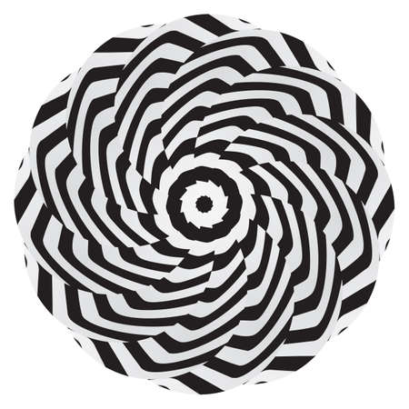 Abstract spiral paint background with Stripes. Vector illustration