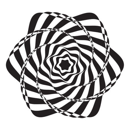 Abstract spiral Stripped paint background. Vector illustration