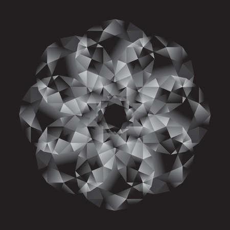 Brilliant Diamond game isolated on black backgrounds Illusztráció