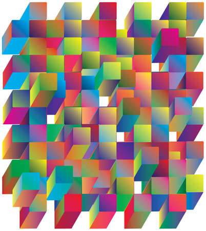 Abstract background. Noise structure with cubes. Vector image