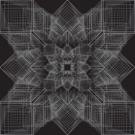 Abstract background. Geometric pattern with cubes. Vector image