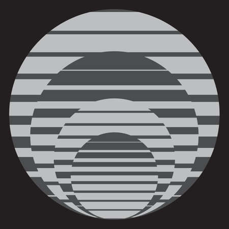 Vector Abstract geometric background from gray striped ellipses