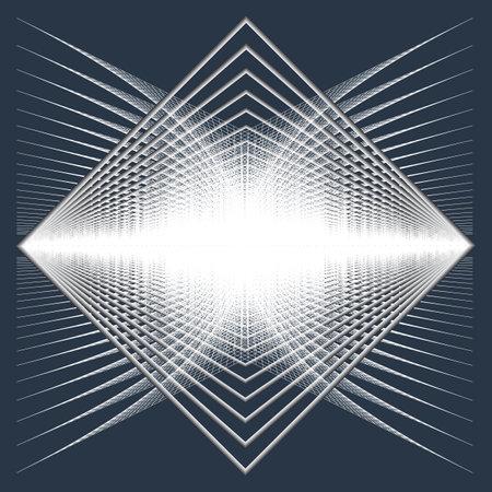 Abstract ornate pattern. Design element with rectangle frames and nets. Modern screen vector design Vektoros illusztráció